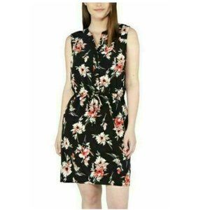 Nicole Miller Original Sleeveless Floral  Dress